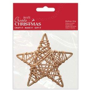 Forma de rattan Create Christmas Star 10 cm