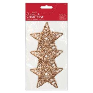 Formas de rattan Create Christmas Stars 9 cm 3 pcs