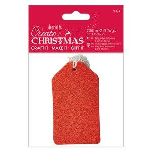 Etiquetas Create Christmas Glitter Surtido 24 pcs