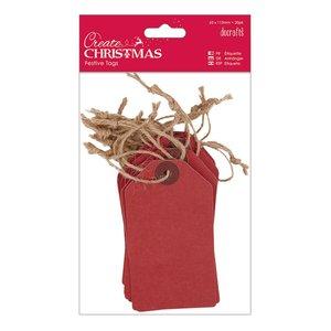 Etiquetas Create Christmas Red 20 pcs