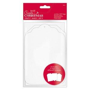 Etiquetas Create Christmas Jumbo White 9 pcs
