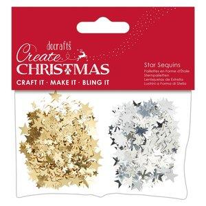 Lentejuelas Estrellitas Create Christmas Gold & Silver