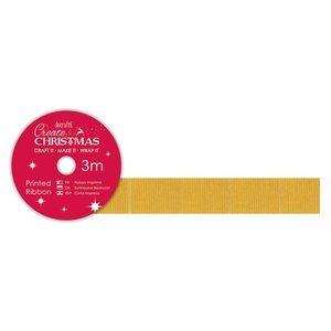 Cinta de tela Create Christmas Gold Grosgrain