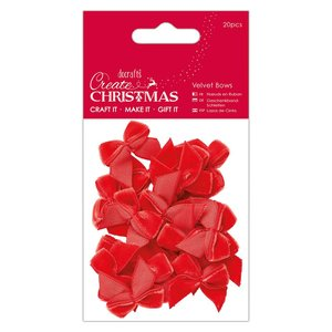 Lazos de terciopelo Create Christmas Red 20 pcs