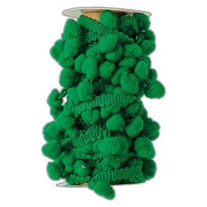 Pom Pom Trim Create Christmas Green 3 metros