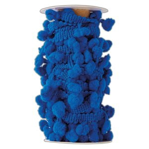 Pom Pom Trim Create Christmas Navy Blue 3 metros