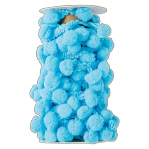 Pom Pom Trim Create Christmas Ice Blue 3 metros