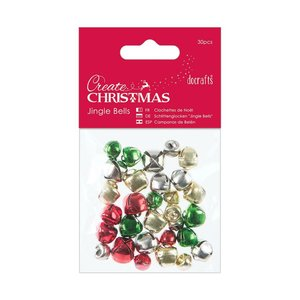 Jingle Bells Create Christmas Mixed Colours 30 pcs