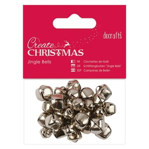 Jingle Bells Create Christmas Silver 30 pcs