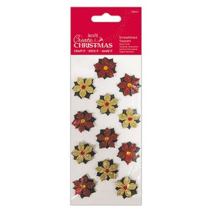 Set de flores Create Christmas mini Poinsettias 12 pcs