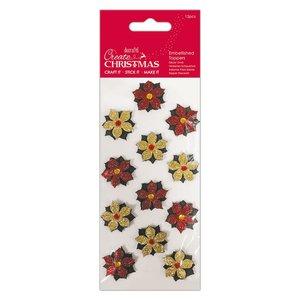 Set de flores Create Christmas mini Poinsettias 12 pcs