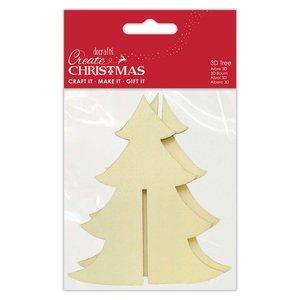 Árbol de madera 3D Create Christmas 12 cm