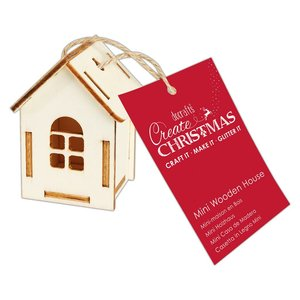 Maderitas para colgar 3D Create Christmas House Five Windows