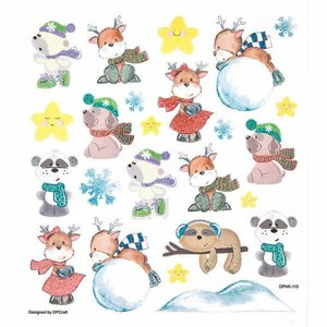 Pegatinas DP Craft Christmas Happy Animals