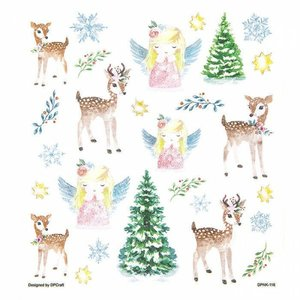 Pegatinas DP Craft Christmas Deers & Angels