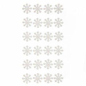 Perlitas adhesivas DP Craft Christmas Snowflakes