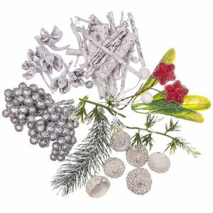 Elementos naturales blanqueados Mix DP Craft Christmas