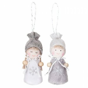 DP Craft Christmas Colgantes Angels Gray 2 pcs