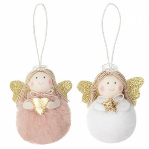 DP Craft Christmas Colgantes Holiday Angels Pink 2 pcs