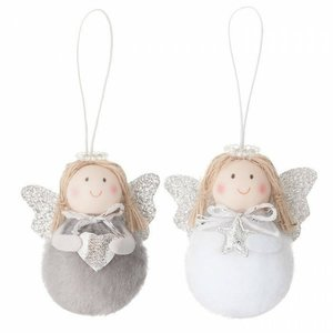 DP Craft Christmas Colgantes Holiday Angels Gray 2 pcs