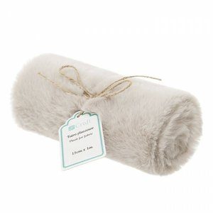 DP Craft Plush Fur Fabric 15 cm x 1 metro Beige