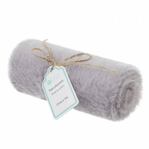DP Craft Plush Fur Fabric 15 cm x 1 metro Gray