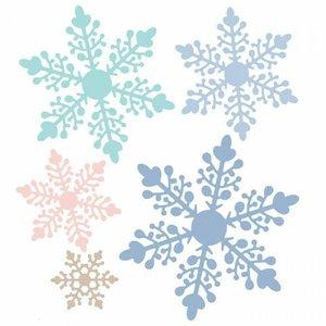 Troqueles DP Craft Christmas Snowflakes