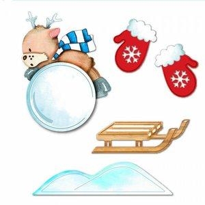 Troqueles DP Craft Christmas Funny Snowball