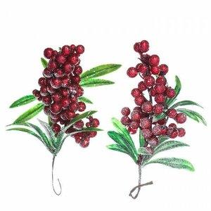 Racimos con hojas y bayas rojas DP Craft Christmas