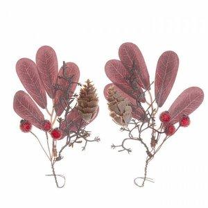 Ramos con hojas y bayas rojas DP Craft Christmas