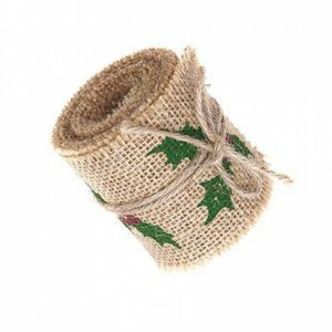 Burlap Ribbon DP Craft Holly Berry
