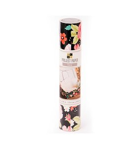 Rollo papel Floral 25,4 cm de ancho