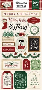 Chipboard A Cozy Christmas Frases