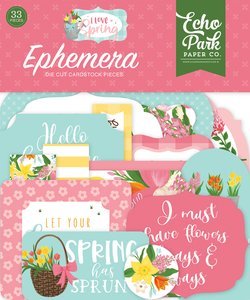 I Love Spring Die Cuts Ephemera