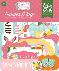 I Love Spring Die Cuts Frames & Tags