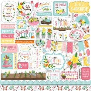 """I Love Spring Hoja de pegatinas 12x12"""""""