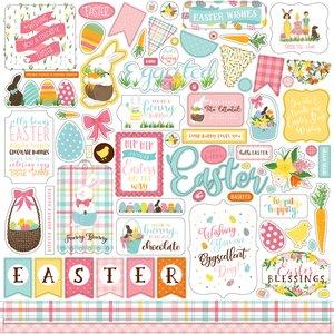 """I Love Easter Hoja de pegatinas 12x12"""""""