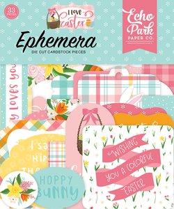 I Love Easter Die Cuts Ephemera