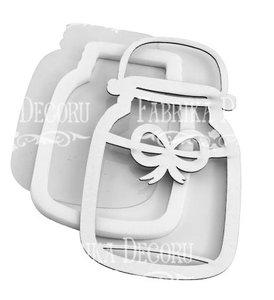 Shaker Dimension Set Jar with Bow
