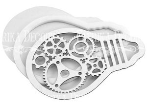Shaker Dimension Set Light Bulb with Gears