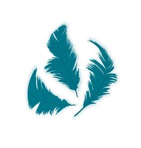 Set de plumón Azul 7,5 cm 14 gr