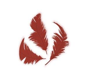 Set de plumón Rojo 7,5 cm 14 gr