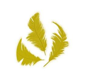 Set de plumón Amarillo 7,5 cm 14 gr