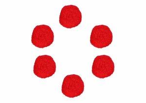 Set de pompones Rojos 25 mm 50 pcs