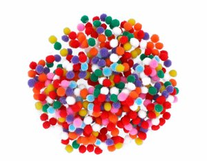 Set de pompones Mix 5 mm 500 pcs