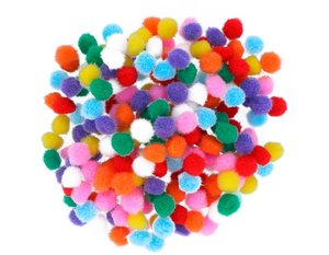 Set de pompones Mix 10 mm 200 pcs