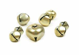 Set de cascabeles color Oro medidas surtidas 30 pcs