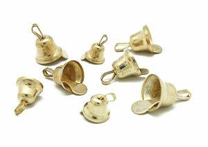 Set de campanillas color Oro medidas surtidas 30 pcs