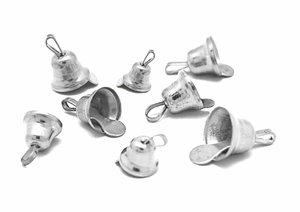 Set de campanillas color Plata medidas surtidas 30 pcs
