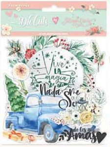 Die Cuts de chipboard Labels Col. Gratitud de Johanna Rivero